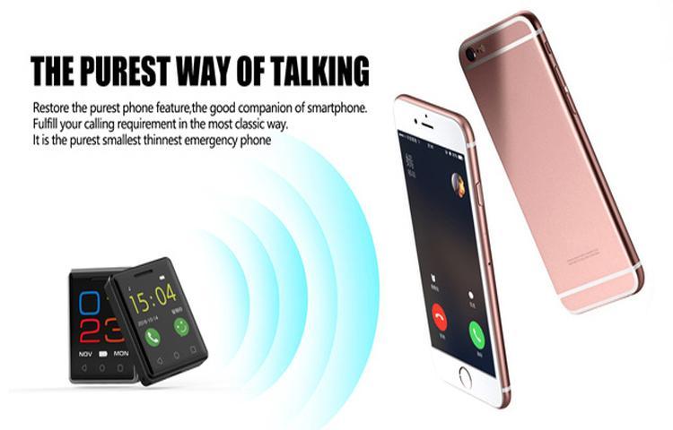 Đây chắc chắn là smartphone nhỏ nhất thế giới: màn 1,54 inch, nặng 30 gram, 64MB RAM, pin 380 mAh