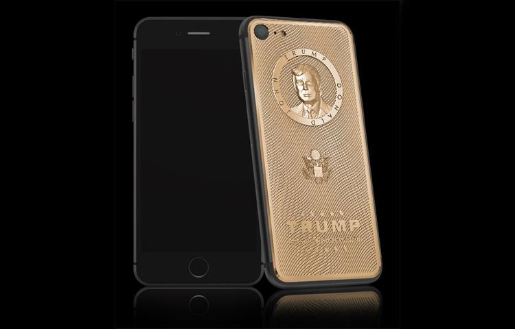 iPhone mạ vàng có mặt Tân Tổng Thống Mỹ, giá chỉ hơn 3000 USD