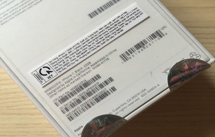 iPhone phải có mã VN/A mới là iPhone hàng chính hãng