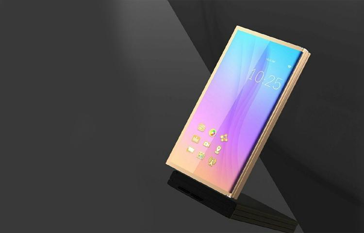 Ý tưởng thiết kế smarphone màn hình gập của Samsung