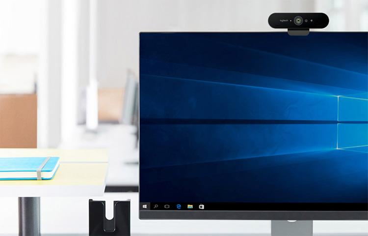 Logitech BRIO: Webcam hỗ trợ hình ảnh 4K, Windows Hello