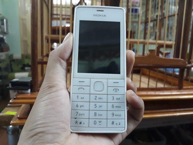Nokia 515 màu trắng ruột gan zin đét thay vỏ mới đẹp 98% -  Ms 3062