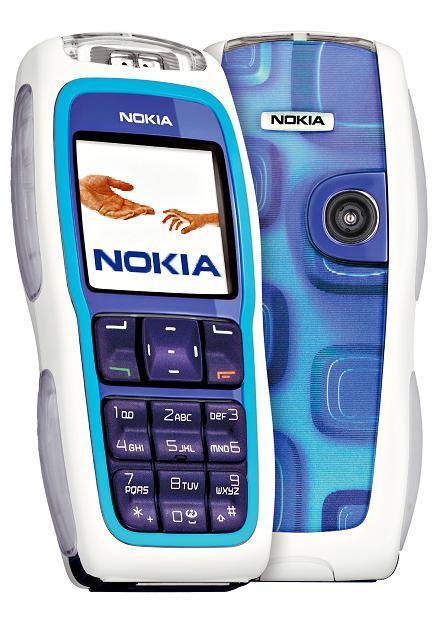 Nokia 3220 màu xanh trắng nguyên zin thay vỏ - Ms V022