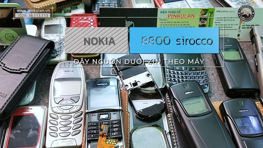 Phân biệtdây nguồn dưới Nokia 8800 Sirocco