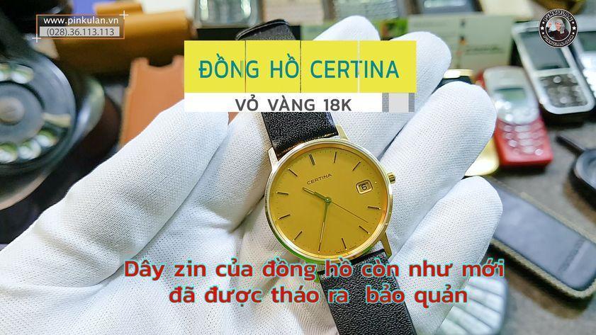Đồng hồ vàng 14k Certina
