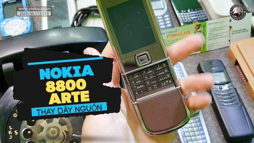 Hướng dẫn thay dây nguồn Nokia 8800 Arte