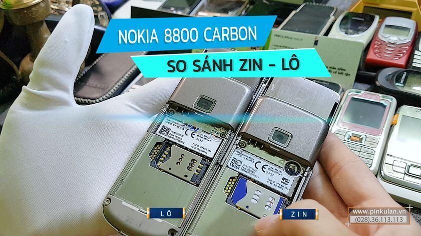 Nokia 8800 Carbon so sánh sườn zin và lô
