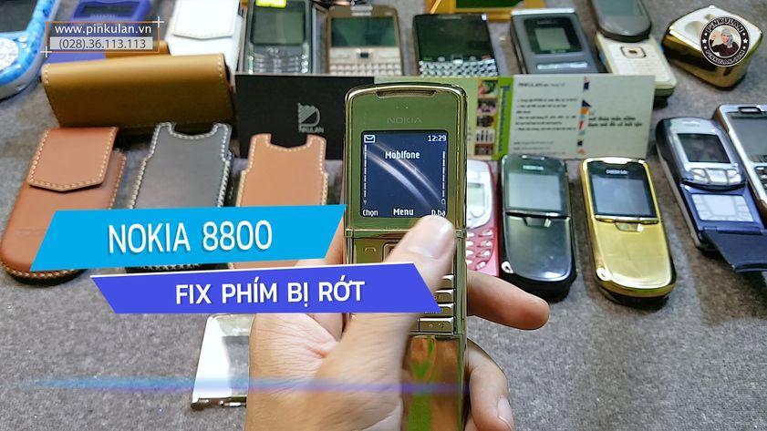 Khắc phục lỗi rớt phím của Nokia 8800 Sirocco