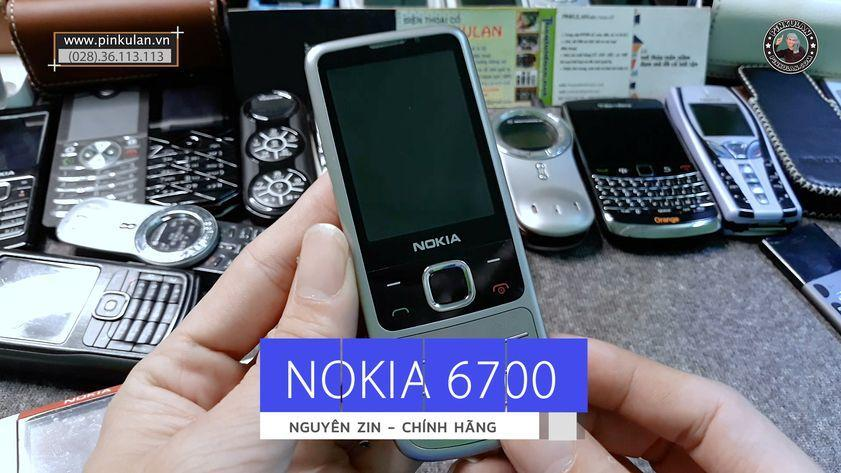 Nokia 6700 nguyên zin nhôm nhám bạc