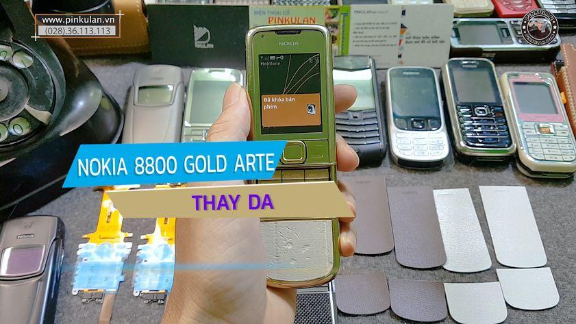 Thay da Nokia 8800 Gold Arte