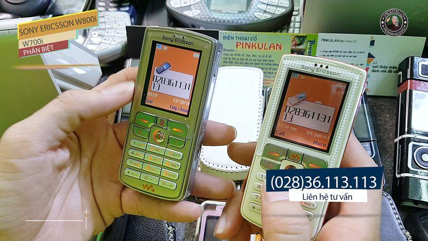 Phân biệt điện thoại Sony Ericsson W700i và Sony Ericsson W800i