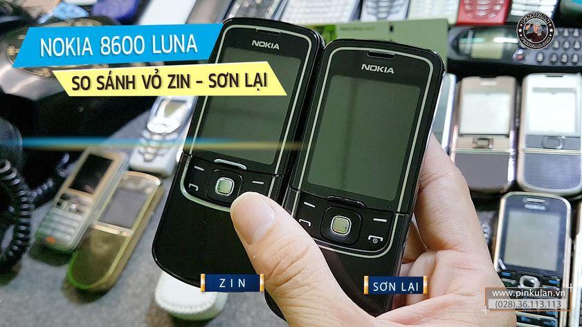 So sánh Nokia 8600 Luna nguyên zin và sơn lại
