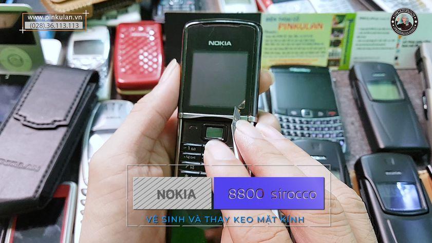 Vệ sinh mặt kính thay keo Nokia 8800 Sirocco