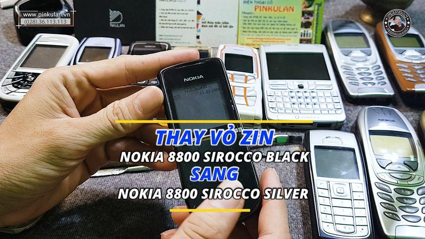 Thay vỏ Nokia 8800 Sirocco từ Black sang Light