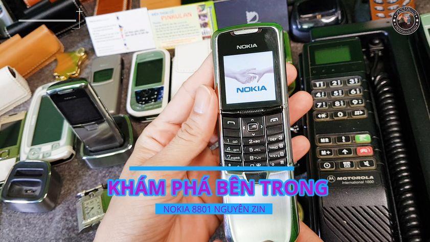 Mở máy Nokia 8801 chính hãng nguyên zin