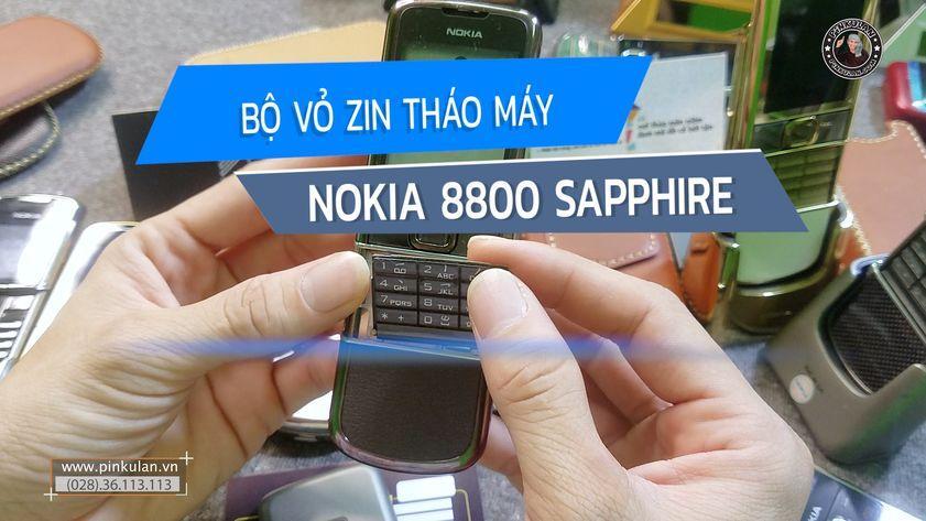 Bộ vỏ phím zin tháo máy Nokia 8800 Sapphire