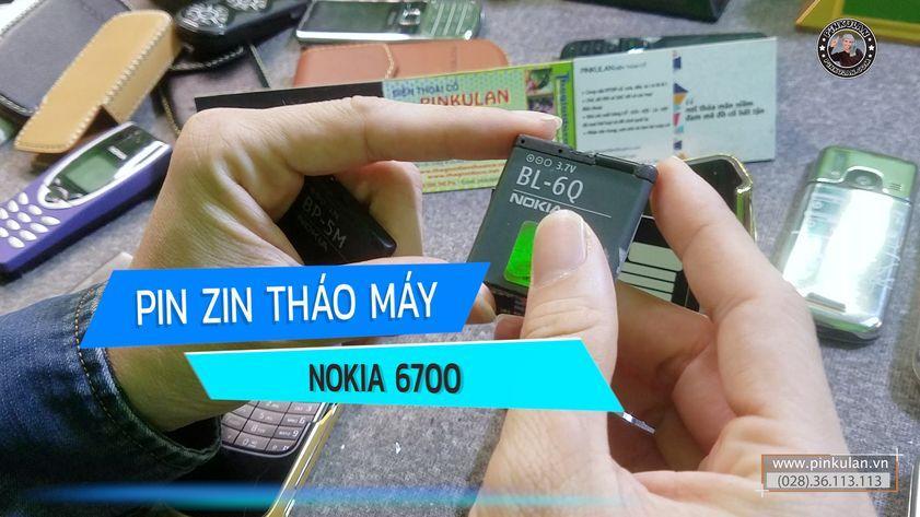Pin Nokia 6700 chính hãng nguyên zin tháo máy