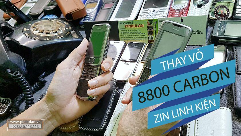 Thay vỏ Nokia 8800 Carbon chính hãng