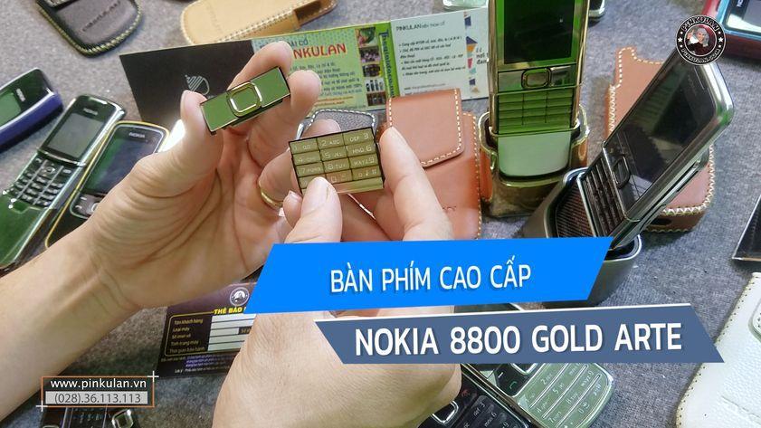 Bàn phím cao cấp Nokia 8800 Gold Arte