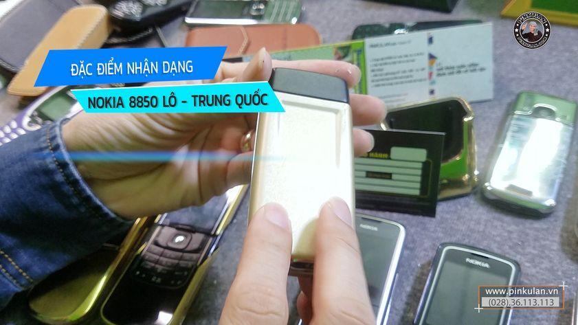 Đặc điểm nhận dạng Nokia 8850 lô, hàng Trung Quốc