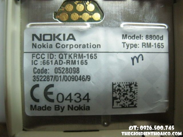main nokia 8800 sirocco light